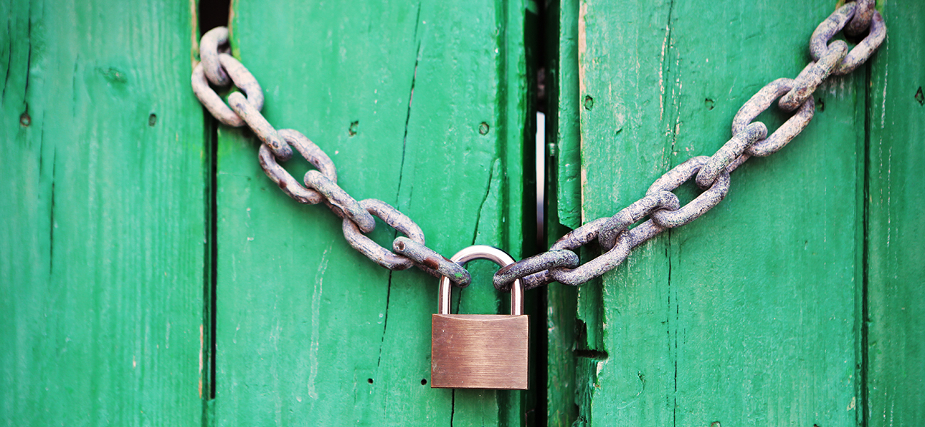 Use locks like passwords, and physical locks for business security